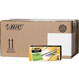 BIC Round Stic Xtra Life Ballpoint Pens, Medium Point, Black Ink, 432/Carton (GSM11BLKCT)