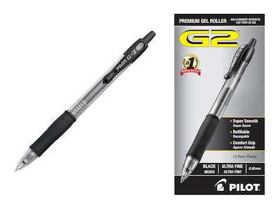 Red Ink PILOT G2 Gel Ink Refills For Rolling Ball Pens Ultra Fine Point 2-Pack New