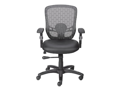 "Quill Corvair Luxura Task Chair, Mesh, Black, Seat: 17.7""W x 15.9""D, Back: 17.6""W x 18.3""H"