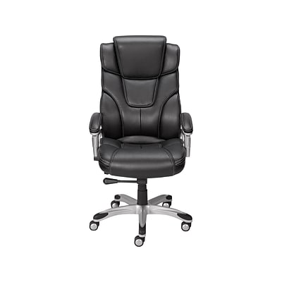 Quill Brand® Baird Bonded Leather Managers Chair, Black