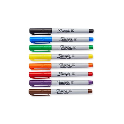 Sharpie Permanent Markers, Ultra Fine Point, Assorted, 8/Pack (37600PP)