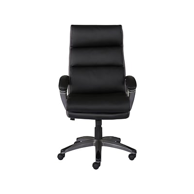 Quill Brand® Rockvale Luxura Faux Leather Manager Chair, Black (50221-CC)