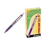 Pilot Precise V5 RT Retractable Rollerball Pens, Extra Fine Point, Purple Ink, 12/Pack (26066)