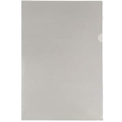 JAM Paper® Plastic Sleeves, Tabloid, 11 3/8 x 17 3/8, Smoke Grey, 12/Pack