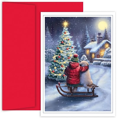 JAM Paper® Christmas Card Set, Best Friends Holiday Cards, 18/pack