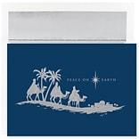 JAM Paper® Christmas Card Set, Peace On Earth Wisemen Holiday Cards, 18/pack