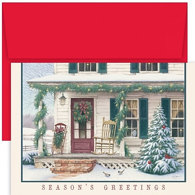 JAM Paper® Christmas Card Set, Welcome Home Holiday Cards, 18/pack