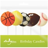 JAM Paper® Specialty Birthday Candles, Game Time Birthday Candle Set, 2 3/4 x 1 1/4, 5/pack
