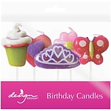 JAM Paper® Specialty Birthday Candles, Glitter Press Birthday Candle Set, 2 3/4 x 3/4, 5/pack