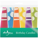 JAM Paper® Specialty Birthday Candles, Party Pillars Birthday Candle Set, 2 3/4 x 1, 6/pack