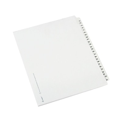 Avery Style Paper Numeric Dividers, 25-Tab, White, Set (01332)