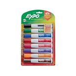 Expo Magnetic Dry Erase Markers, Chisel Point, Assorted, 8/Pack (1944741)