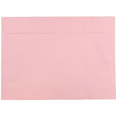 JAM Paper® 9 x 12 Booklet Envelopes, Baby Pink, 500/box