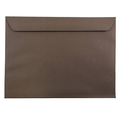 JAM Paper® 9 x 12 Booklet Envelopes, Chocolate Brown, 100/pack