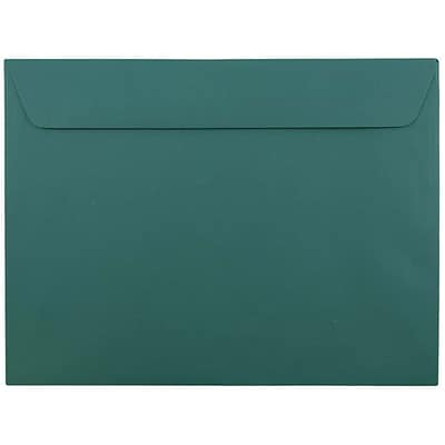 JAM Paper® 9 x 12 Booklet Envelopes, Teal, 50/pack