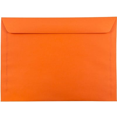 JAM Paper® 9 x 12 Booklet Catalog Colored Envelopes, Orange Recycled, 100/Pack (5156772c)