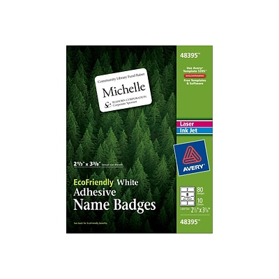 d7445e996 Avery EcoFriendly Sticker Name Tags Labels