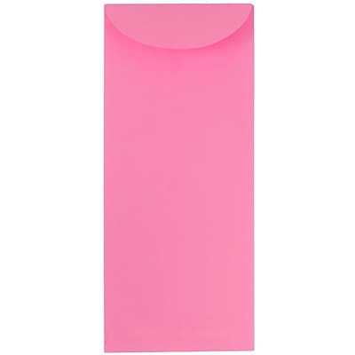 JAM Paper® #11 Policy Envelopes, 4 1/2 x 10 3/8, Ultra Pink, 50/Pack