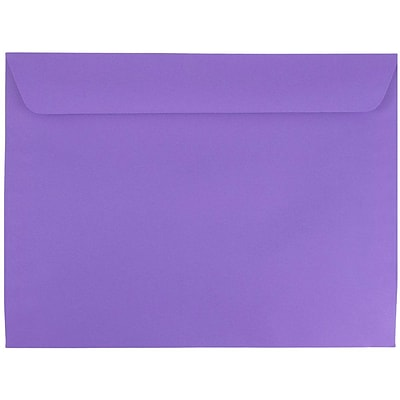 JAM Paper® 9 x 12 Booklet Envelopes, Violet Purple Recycled, 250/box