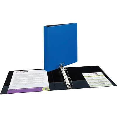 Avery Durable 1 1/2 3-Ring Non-View Binder, Blue (27351)