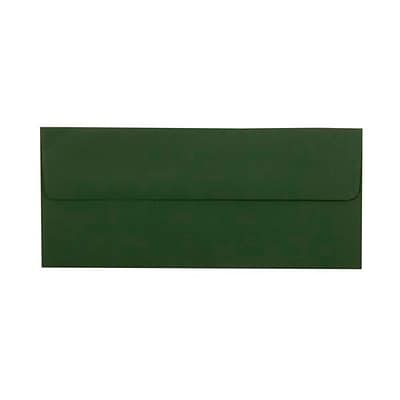 JAM Paper® #10 Business Envelopes, 4.125 x 9.5, Dark Green, 50/pack (21514959i)
