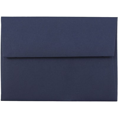 JAM Paper® 4bar A1 Invitation Envelopes, 3 5/8 x 5 1/8, Navy Blue, 50/pack