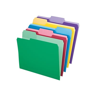 Pendaflex Write And Erase File Folders, 3-Tab, Letter Size, Assorted Colors, 30/Pack (84370)