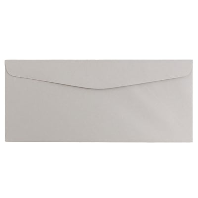 JAM Paper® #10 Business Envelopes, 4 1/8 x 9 1/2, Grey Kraft, 500/Box