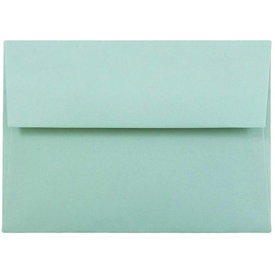 JAM Paper® 4bar A1 Invitation Envelopes, 3 5/8 x 5 1/8, Aqua, 50/pack