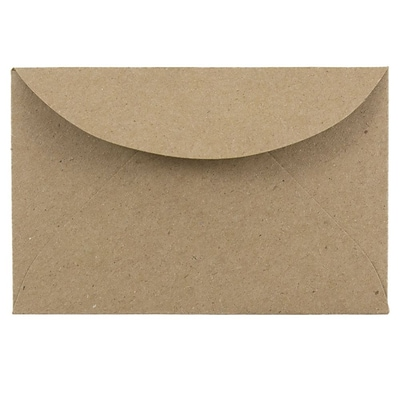JAM Paper® 3Drug Envelopes, 2 5/16 x 3 5/8, Brown Kraft Paper Bag Recycled, 50 Envelopes per Pack