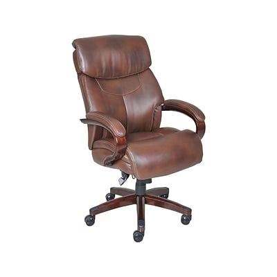 La Z Boy Bradley Faux Leather Executive Chair Roast Chestnut 44762