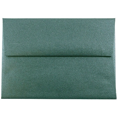 JAM Paper® A2 Invitation Envelope, 4 3/8 x 5 3/4, Stardream Metallic Emerald, 500/box
