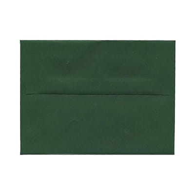 JAM Paper® A6 Invitation Envelopes, 4.75 x 6.5, Dark Green, 25/pack (3157346)