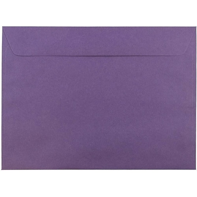 JAM Paper® 9 x 12 Booklet Envelopes, Dark Purple, 100/pack