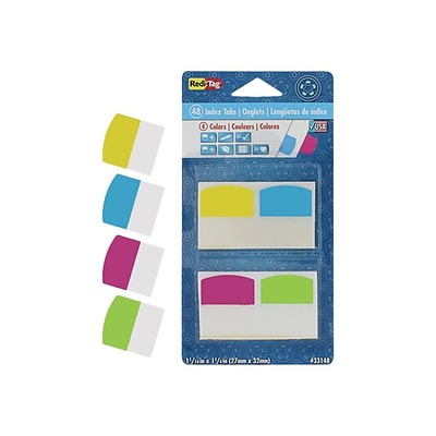 Redi-Tag Tabs, Assorted Colors, 1.06 Wide, 48/Pack (33148)