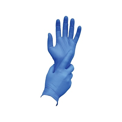 Ambitex N400 Series Powder Free Blue Nitrile Gloves, Large, 100/Box (NLG400)
