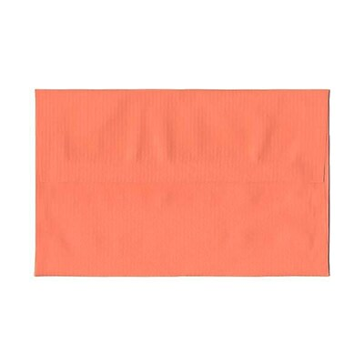 JAM Paper® A10 Invitation Envelope, 6 x 9 1/2, Virtual Vision Sierra / Salmon Pink Translucent Vellum, 25/pack