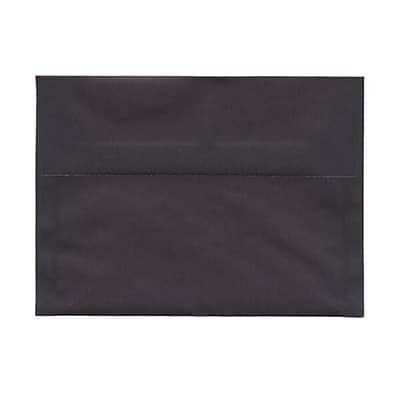 JAM Paper® A7 Invitation Envelopes, 5 1/4 x 7 1/4, Charcoal Grey Translucent Vellum, 25/pack