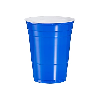 Solo Party Cold Cups, 16 Oz., Blue, 50/Pack (P16B)
