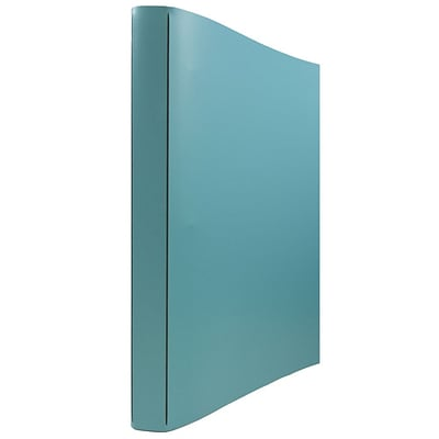 JAM Paper® Italian Leather 3 Ring Binder, 3/4, Turquoise, Sold Individually