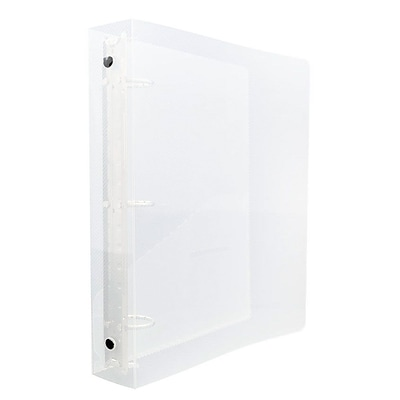 JAM Paper® Mini Plastic 3 Ring Binder, 1 1/2 inch, Clear, Sold Individually