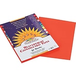 SunWorks 9W x 12L Heavyweight Construction Paper, Orange, 50/Pack (6603)