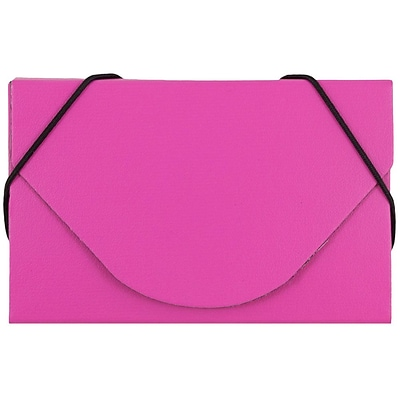 JAM Paper® Business Card Case, Matte Fuchsia Pink, Sold Individually