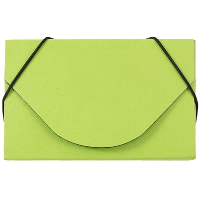 JAM Paper® Business Card Case, Matte Lime Green, Sold Individually