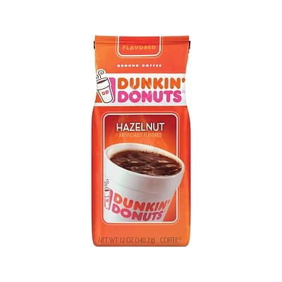 Dunkin Donuts Hazelnut Ground Coffee, Medium Roast (00049)