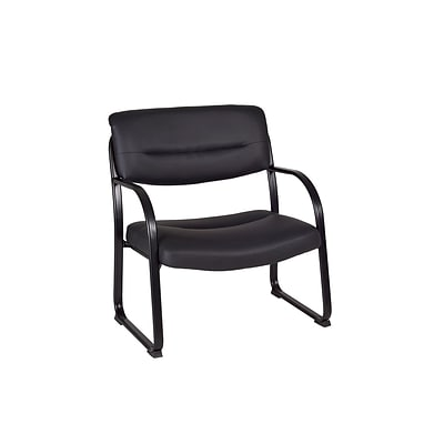 Cool Regency Crusoe Bonded Leather Guest Big Tall Chair Black 1106Bk Creativecarmelina Interior Chair Design Creativecarmelinacom