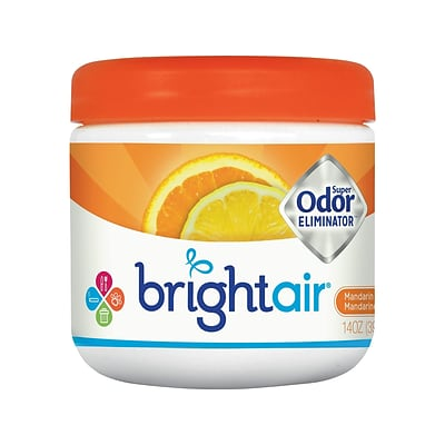 Bright Air Super Odor Eliminator Solid Air Freshener, Mandarin Orange & Fresh Lemon (900013)