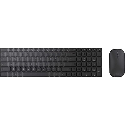 Microsoft Designer Bluetooth Desktop Wireless Keyboard & Mouse, Black (7N9-00001)