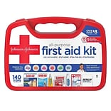 Johnson & Johnson All-Purpose Portable Compact First Aid Kit, 140 pc (117210)
