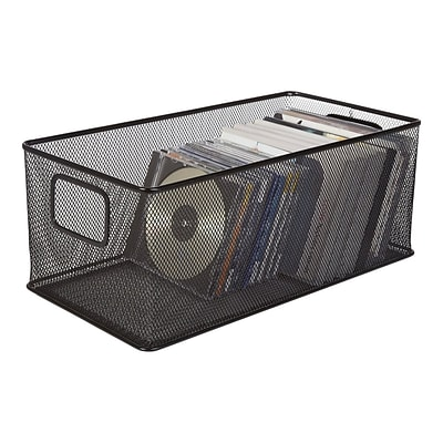 Black Wire Mesh Large DVD Storage Box